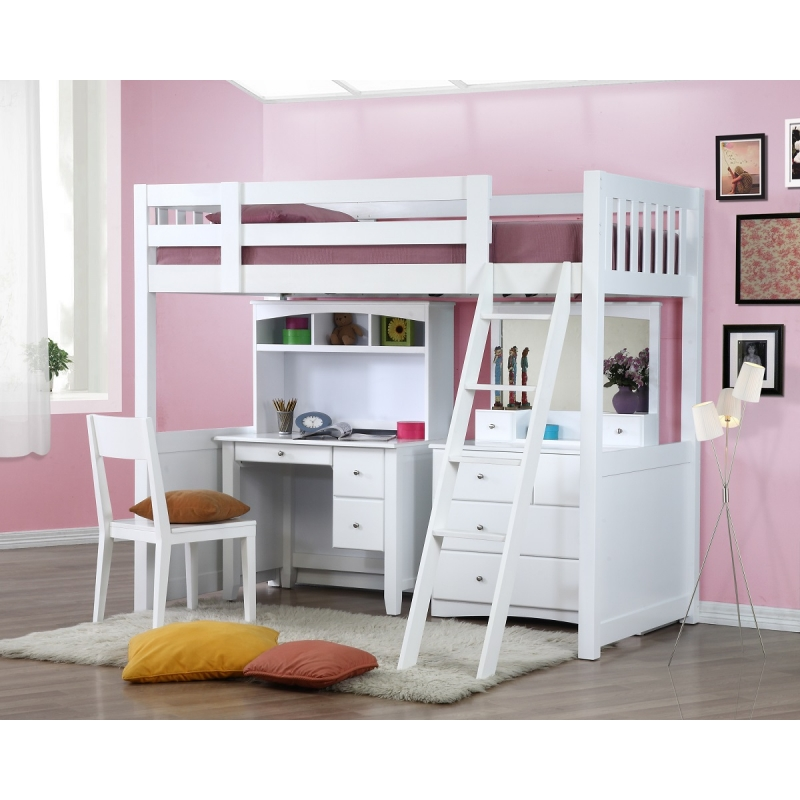 My design bunk bed k single 104027 Kids loft bed with desk