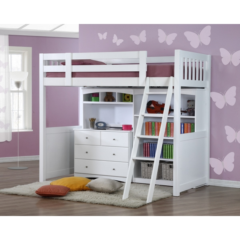 my design bunk bed k single w dressing table w hutch bookcase 104033. Black Bedroom Furniture Sets. Home Design Ideas