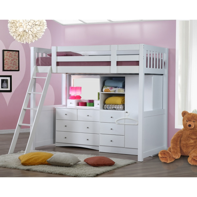 My Design Bunk Bed Ksingle Wdressing Table Wmirrorwardrobe 104031