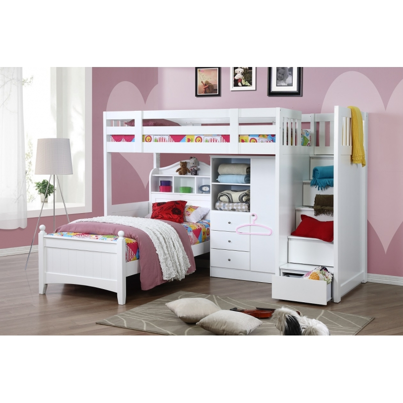 Classic Single Bed With Trundle Bed By Stompa: Affordable Bunk Beds With Storage.My Design Bunk Bed K