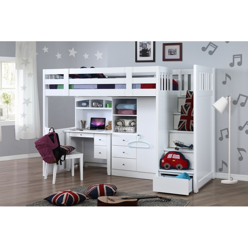 My Design Bunk Bed K Single W Stair Amp Desk W Hutch Amp Wardrobe