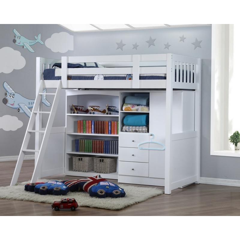My Design Bunk Bed K Single W Bookcase Amp Wardrobe 104032