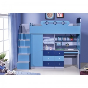 Sailor Bunk Bed Single W Stair WardrobeDesk 104006