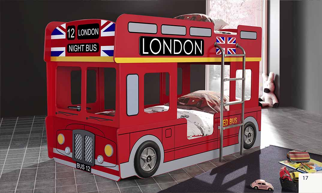 Lovely London Bus Bunk Bed GZ11
