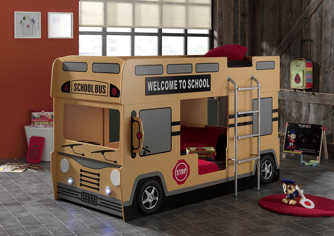 School Bus Bunk Bed London Bus Childrens Novelty Bunk Bed